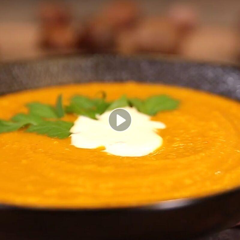 La soupe de potimarron et châtaignes