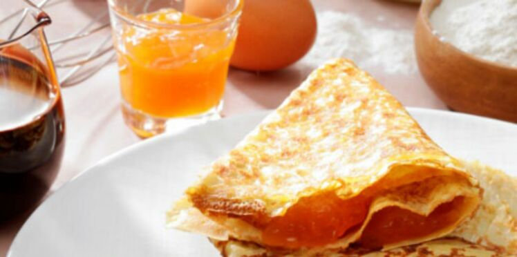 Crêpes a la confiture d'orange