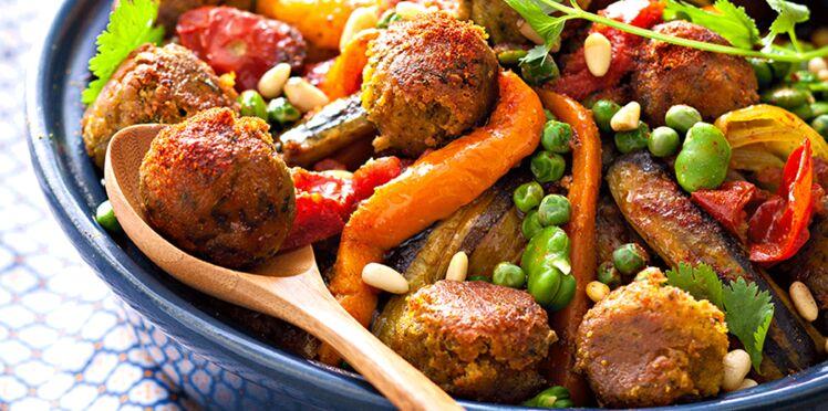 Tajine végétarien de légumes et falafels