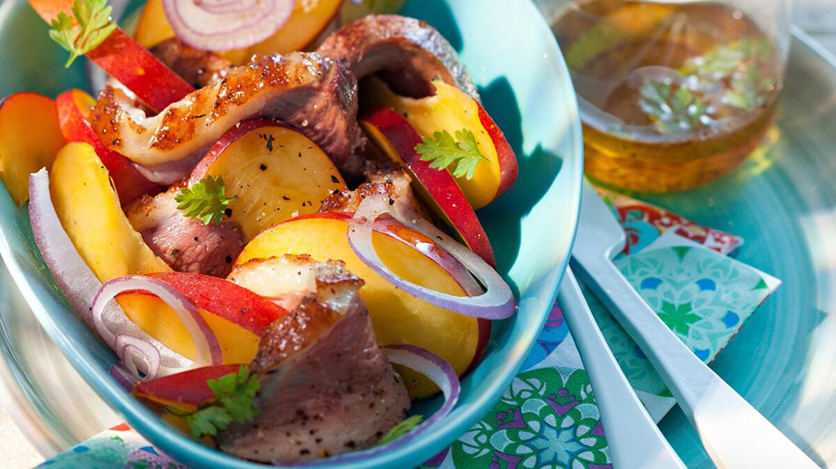 Salade de magrets aux nectarines