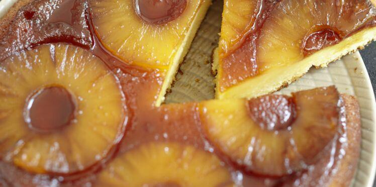 Gâteau caramélisé à l'ananas et au rhum
