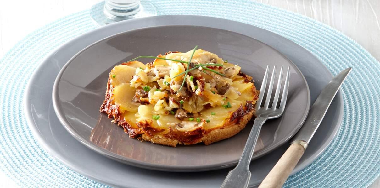 Biscuit de pommes de terre au camembert et aux noisettes