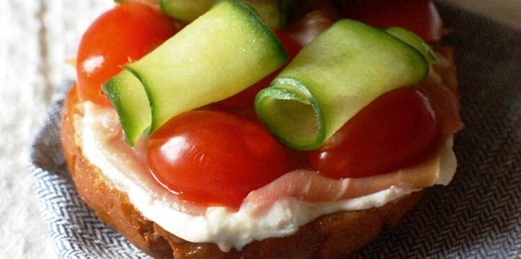 Sandwich aux légumes d'été