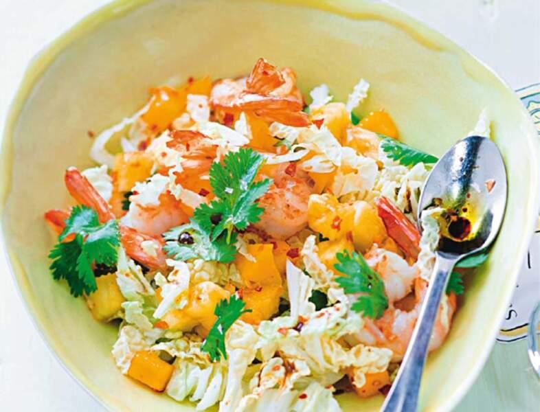 Salade thaïe de crevettes à l'ananas