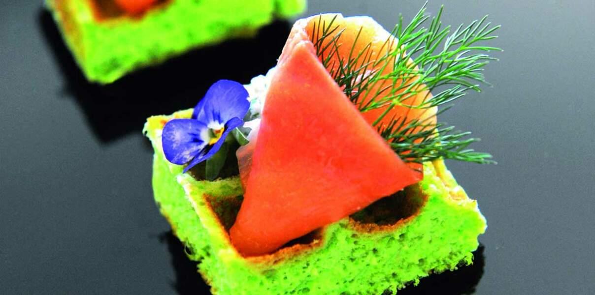 Gaufre saumon aneth