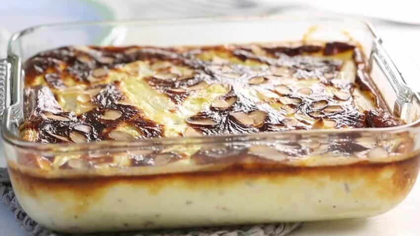 La recette du clafoutis aux asperges, amandes et parmesan