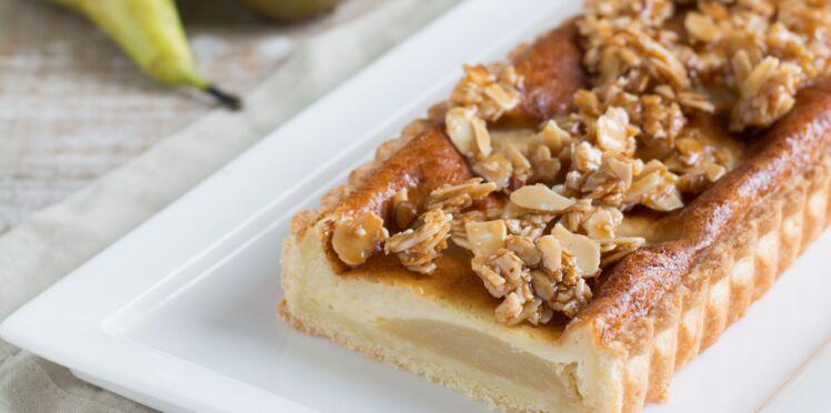 Tarte aux poires, miel et sainte-maure de Touraine