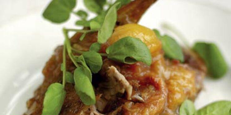 Canard croustillant parfait, chutney de prunes