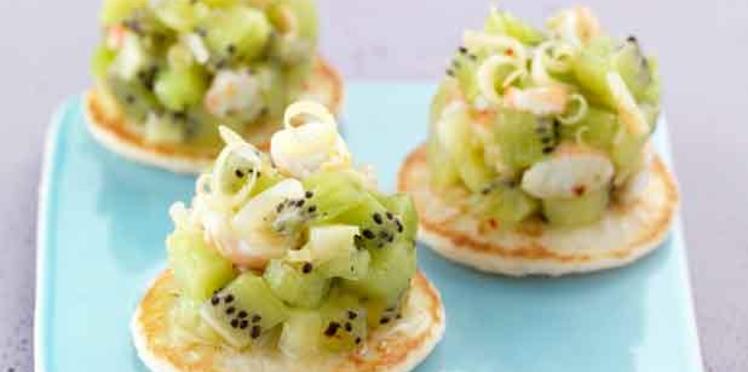 Tartare de kiwi de l'Adour et crevettes à la citronnelle