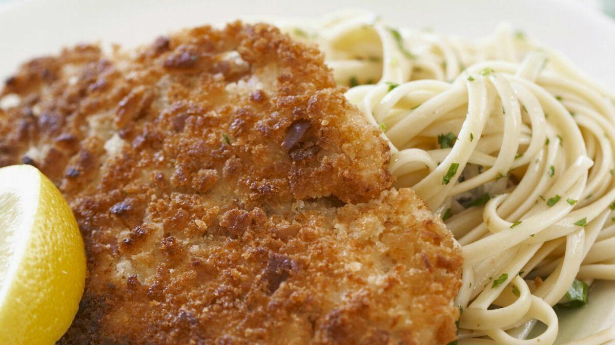 Filets de poulet panés