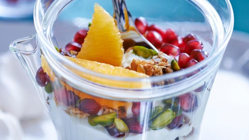 Coupe granola aux fruits secs
