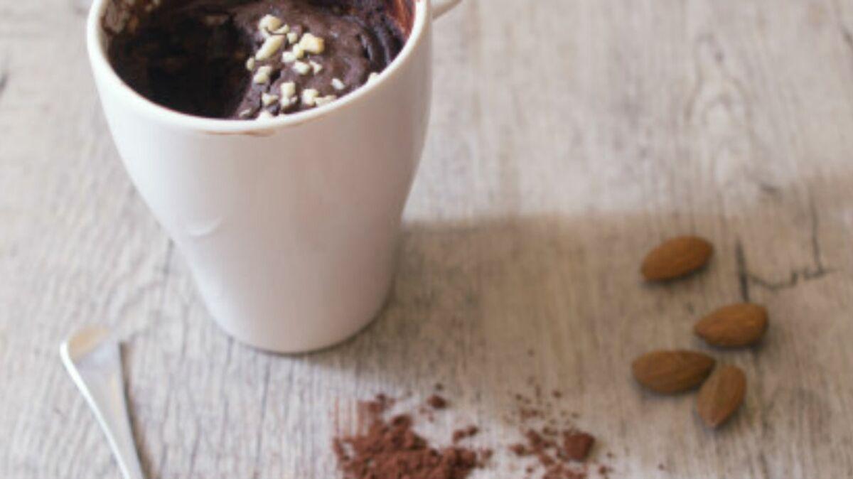 Mugcake au chocolat en poudre