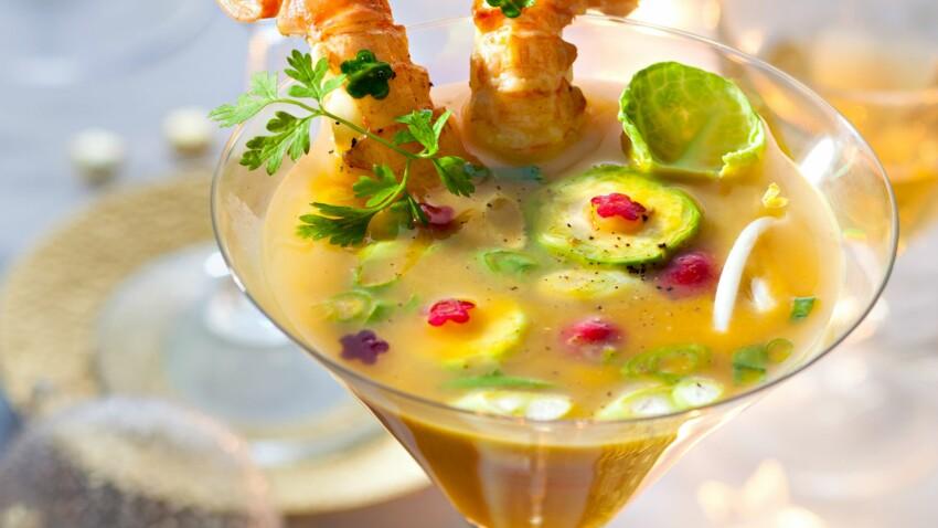 Les langoustines en bouillon de citronnelle de Nathalie Nguyen
