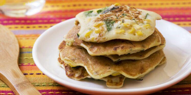 Pancakes maïs courgettes