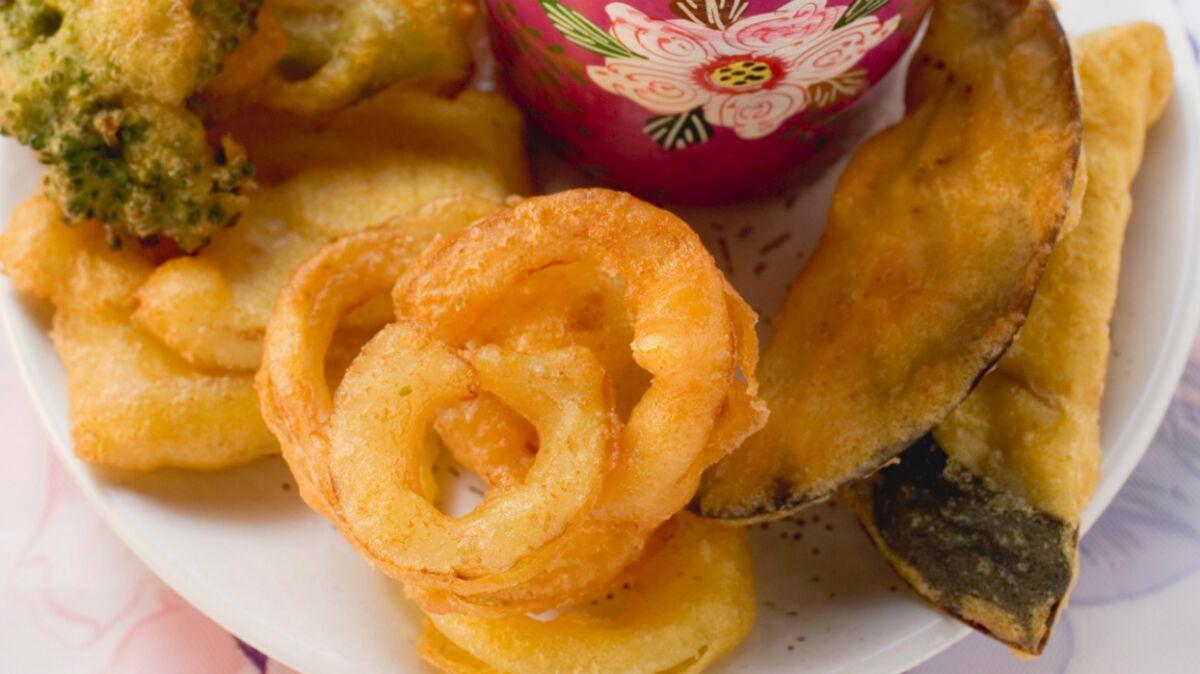 Tempura de légumes, sauce fraîche au yaourt