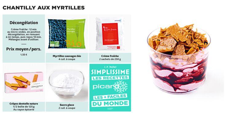 Chantilly aux myrtilles Simplissime & Picard