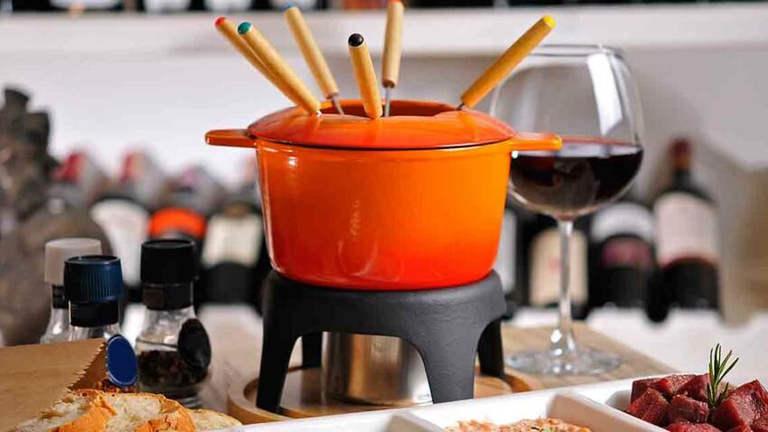 Fondue bourguignonne et ses trois sauces