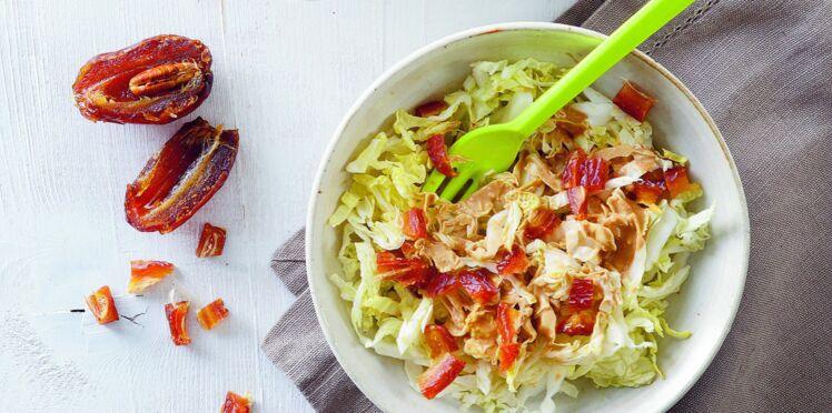Salade de chou chinois aux dattes