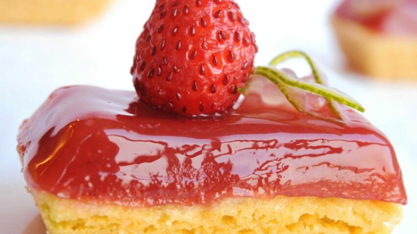 Linzer tarte aux fraises des bois