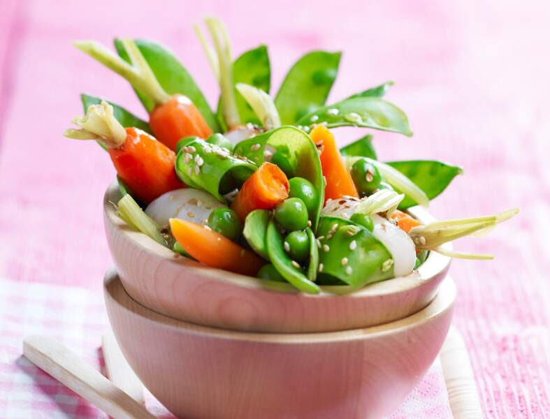 Salade de primeurs au soja