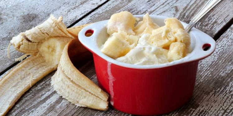 Glace à la banane facile