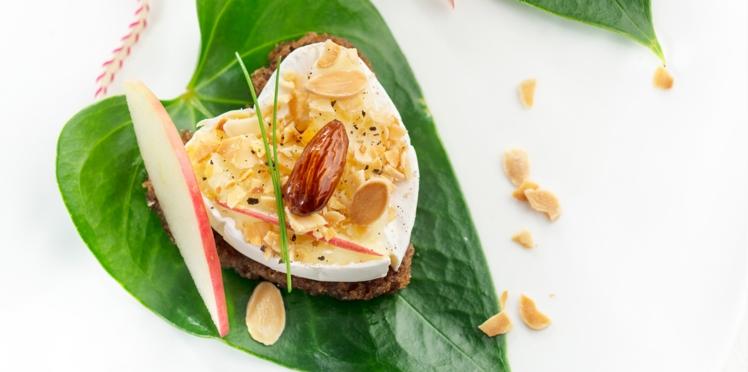 Tartines coeur au jambon Serrano et Caprice des dieux
