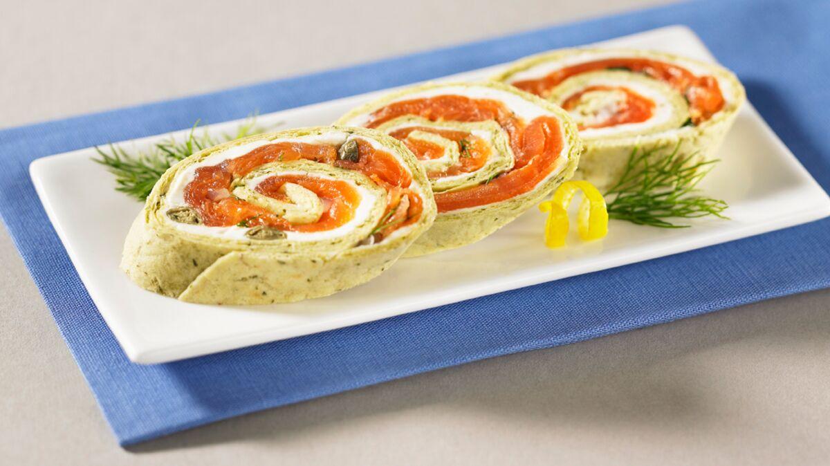 Wrap au saumon et boursin