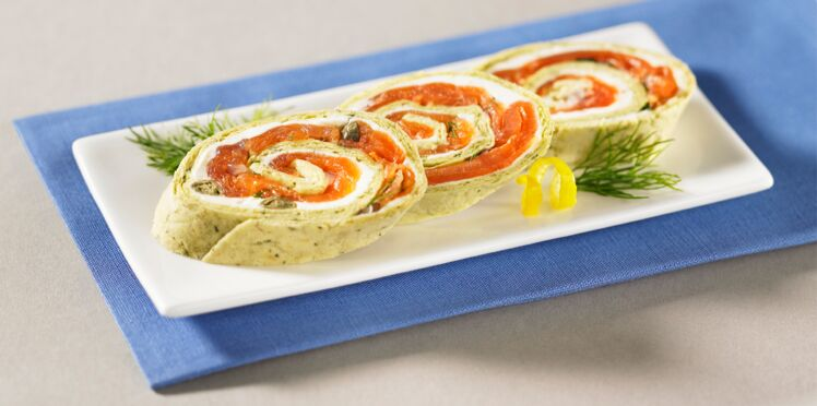 Wrap au saumon et boursin