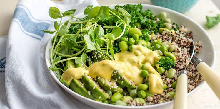Salade de quinoa, avocat et haricots