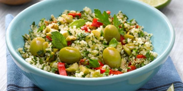 Salade de quinoa aux olives vertes