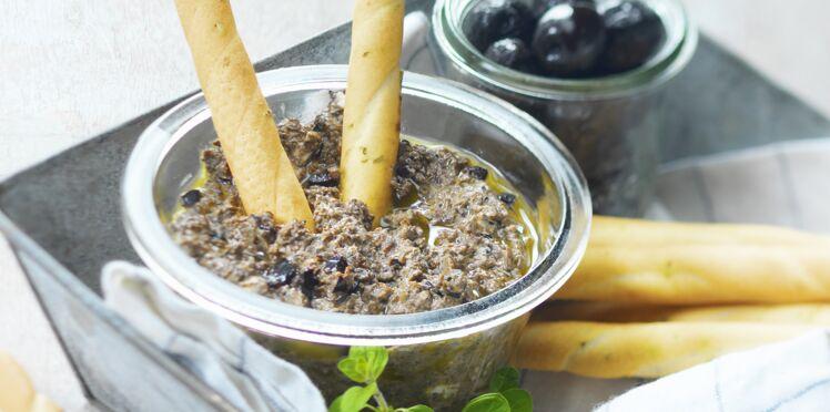 Tapenade d'olives noires au chèvre