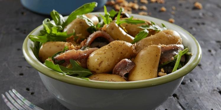 Salade de Rattes du Touquet aux anchois