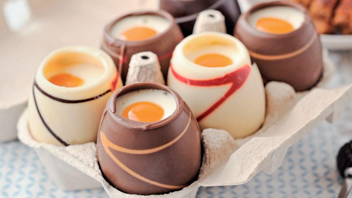 Oeufs de Pâques à la coque