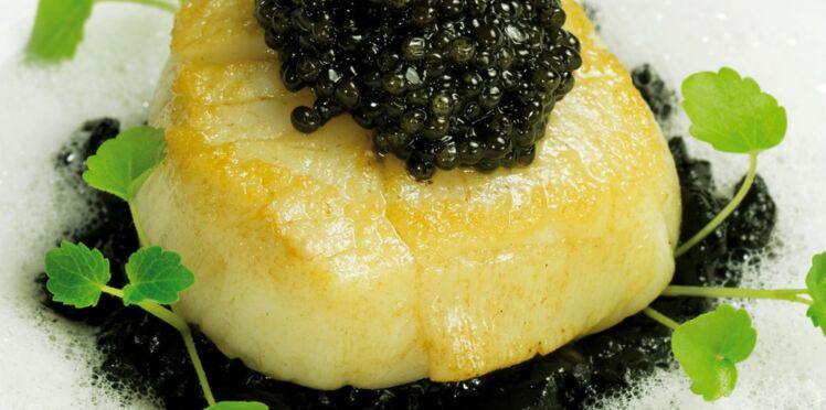 Saint-Jacques, risotto et caviar de Philippe Etchebest