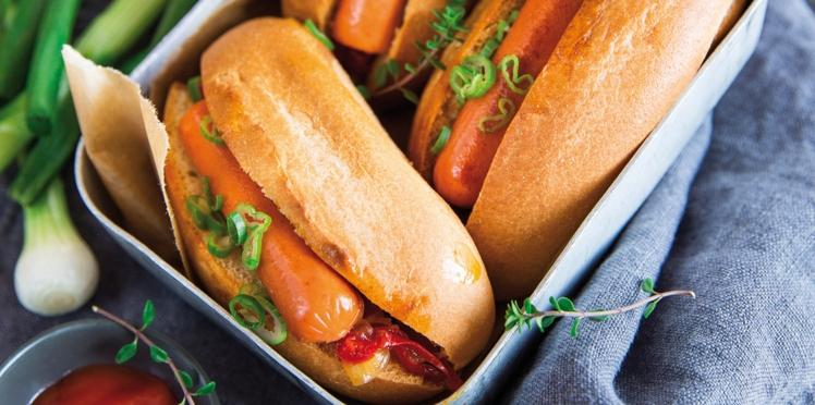 Mini hot dog, saucisses végétales