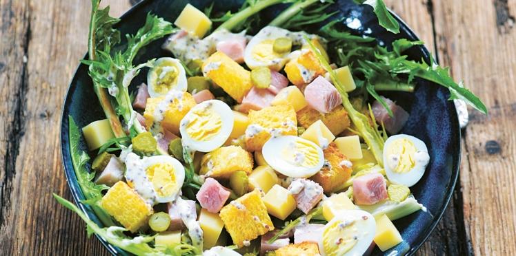 Salade parisienne rapide et facile de Laurent Mariotte