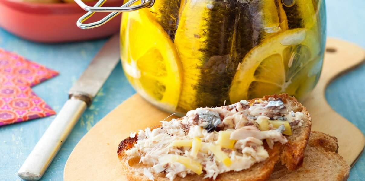 Les sardines fraîches à l'huile