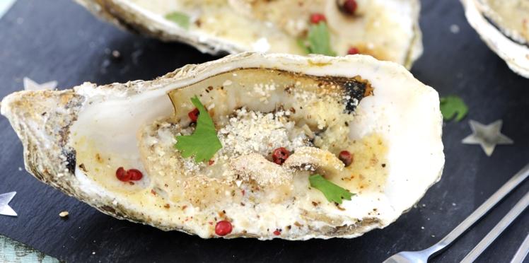 Huîtres gratinées au four