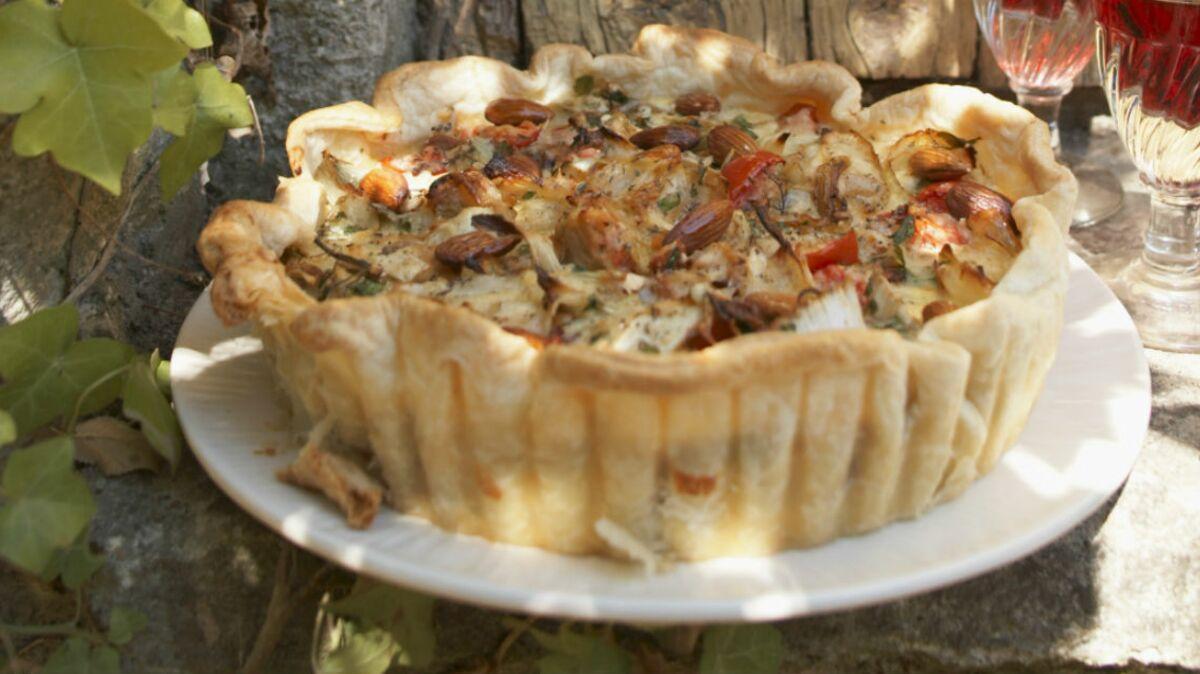 Tarte thon chèvre et champignon