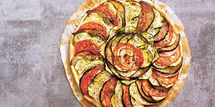 Tarte tian aux légumes d'été