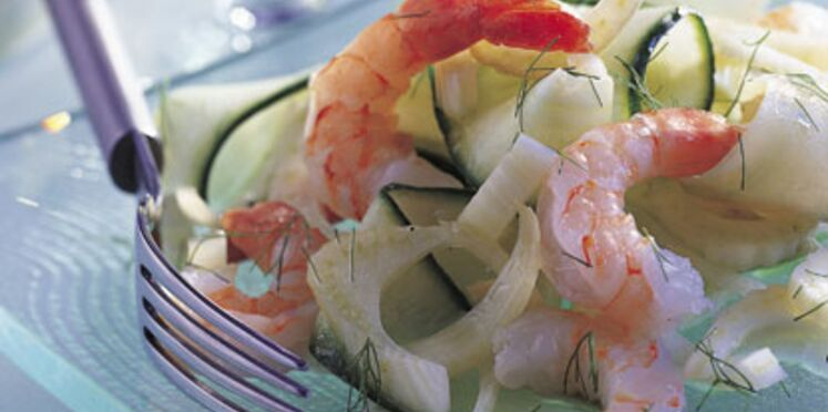 crevettes à la scandinave