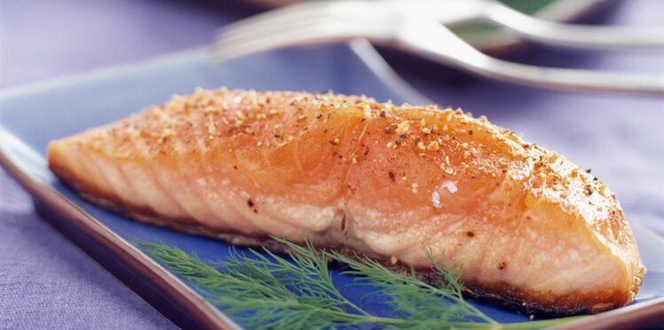 Pavés de saumon au gros sel