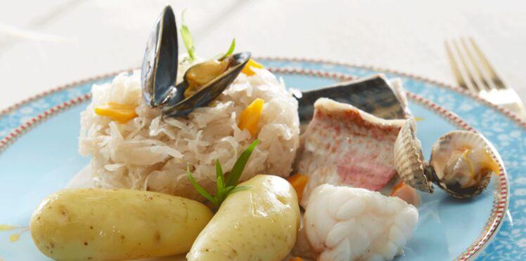 Choucroute de la mer aux Rattes du Touquet