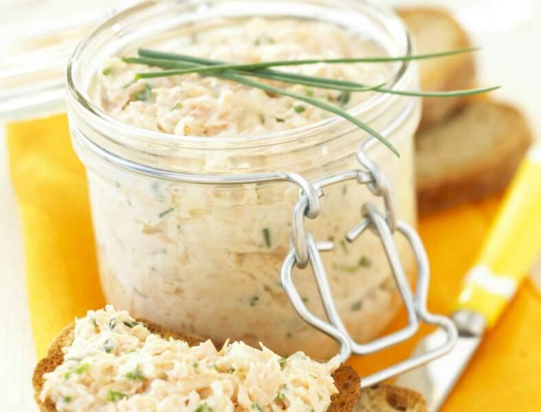 Rillettes aux deux saumons et fromage frais