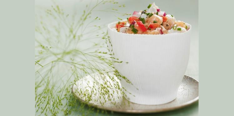 Tartare saumon et poivrons