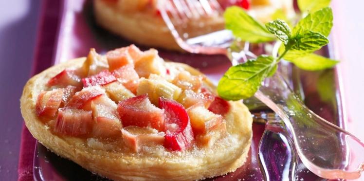 Tartelettes à la rhubarbe