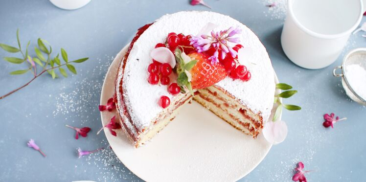 Gâteau léger à la framboise