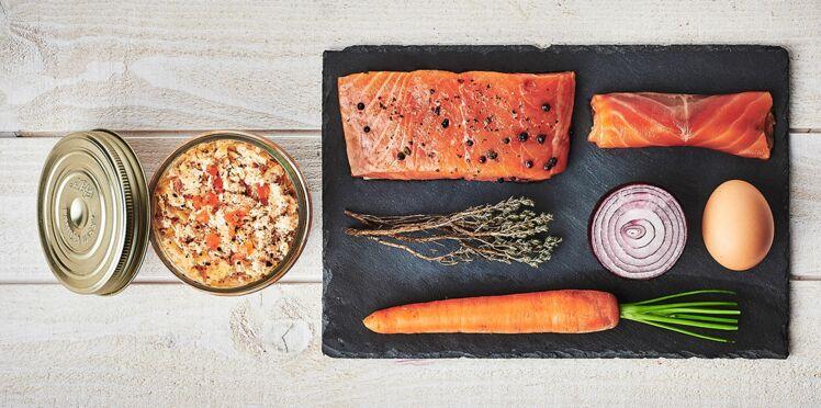 Rillettes de saumon en conserve