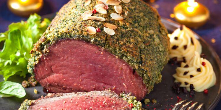 Filet de bœuf en croûte d'herbes
