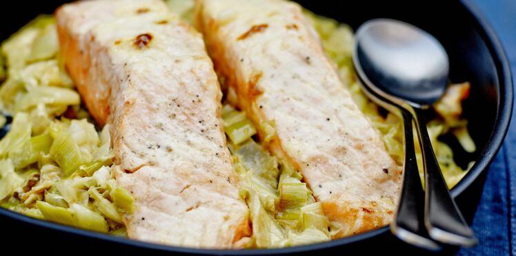 Recette saumon poireaux